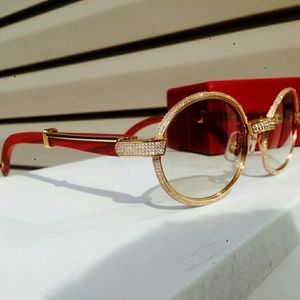 fcc319aa9f5 Cartier Accessories - Custom iced out vintage Cartier sunglasses